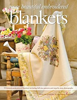 photo: livre embroidered blankets