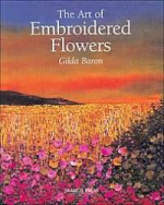 photo: book embroidered flowers