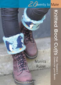 photo: book knitted boot cuffs