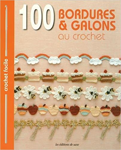 photo: livre 100 bordures galons au crochet
